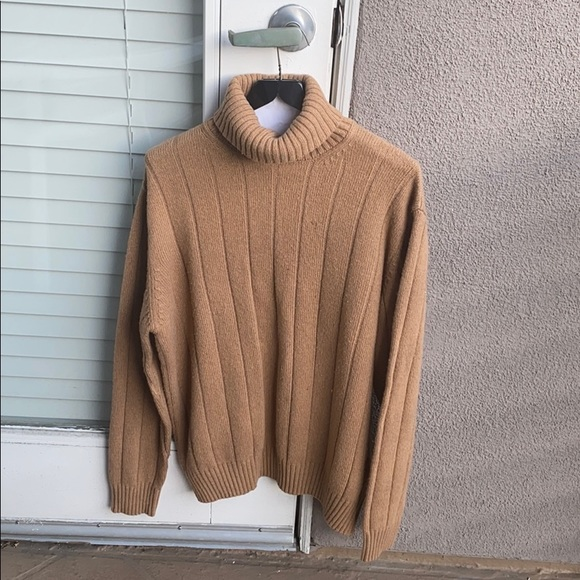 MENS POINT OF ITALY TAN SWEATER MADE IN ITALY